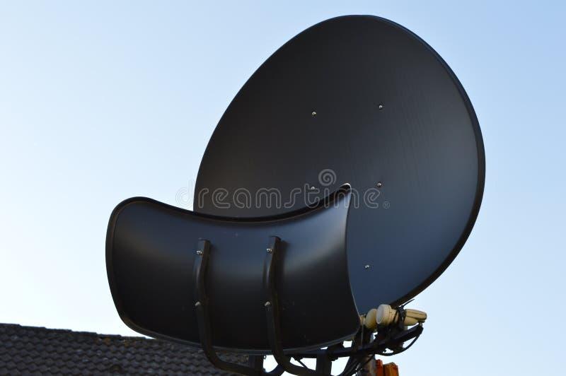 Televisión via satélite foto de archivo