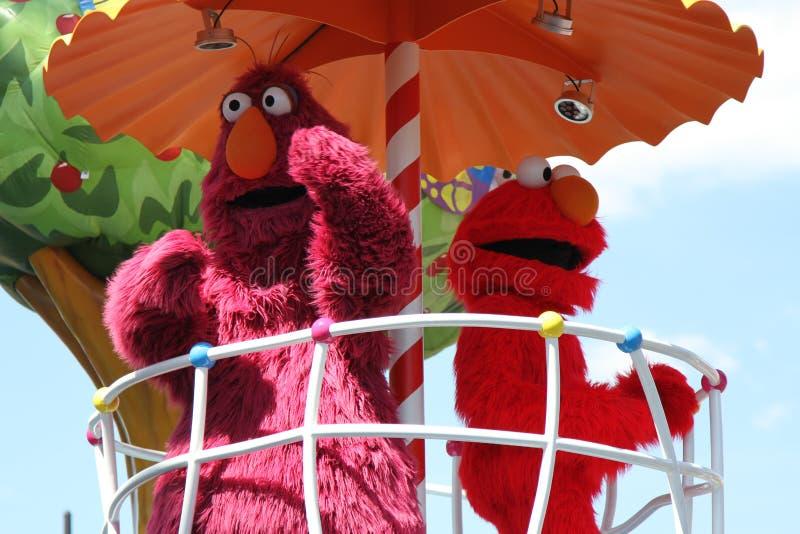 Televisión y Elmo fotografía de archivo libre de regalías