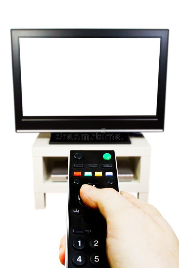 Televisión y teledirigido fotografía de archivo