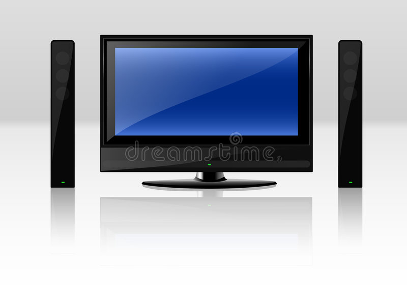 Televisie vector illustratie