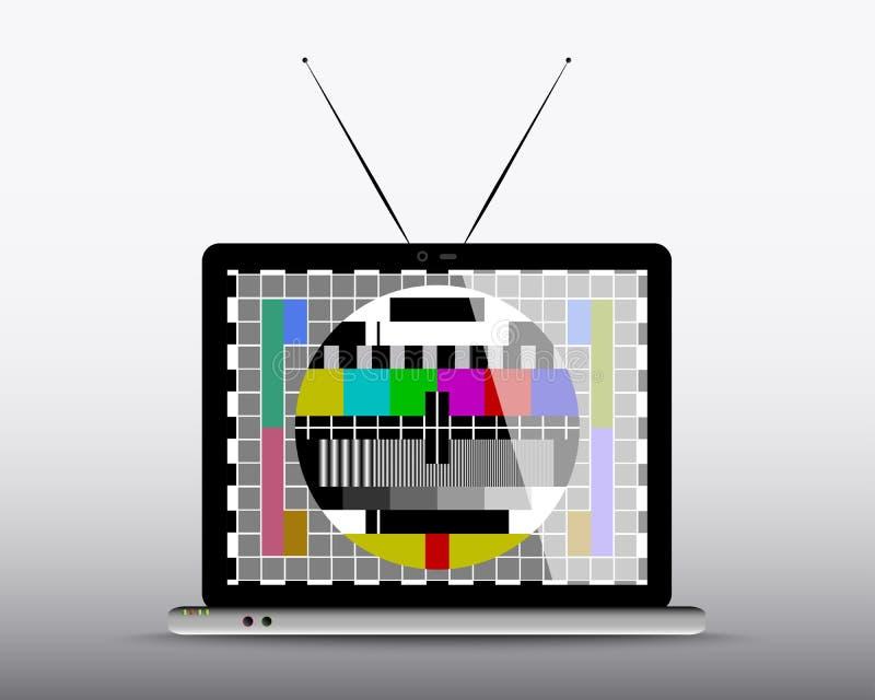 Televisie in Computer royalty-vrije illustratie