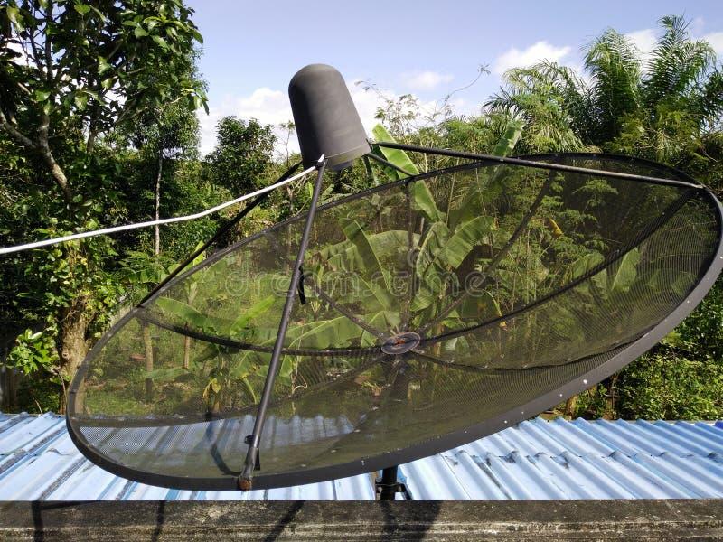 Televisie en mededeling stock afbeelding