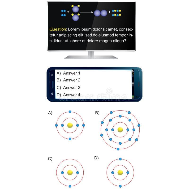 Televisie en mobiele telefoon - Vraag en antwoordmalplaatje vector illustratie