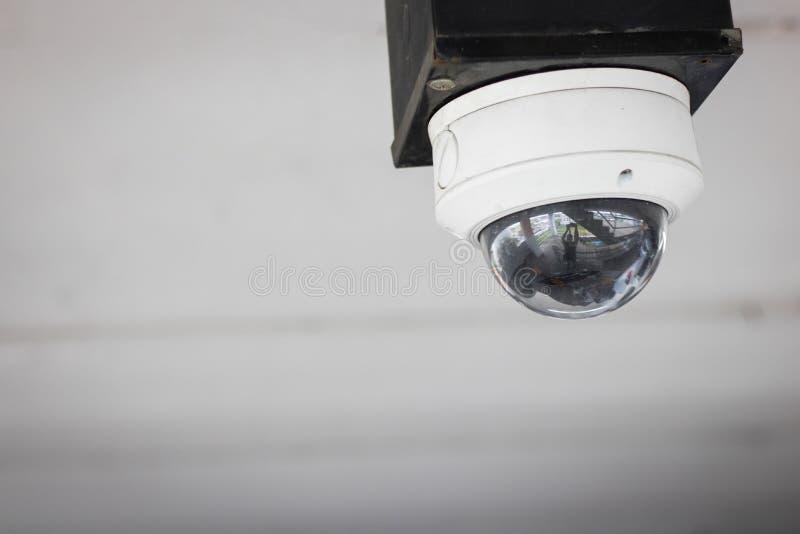 Televisie met gesloten circuit, de camera of toezicht s van Veiligheidskabeltelevisie royalty-vrije stock foto