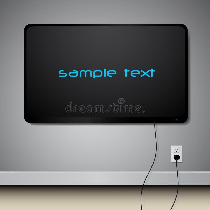 Televisie op de muur vector illustratie