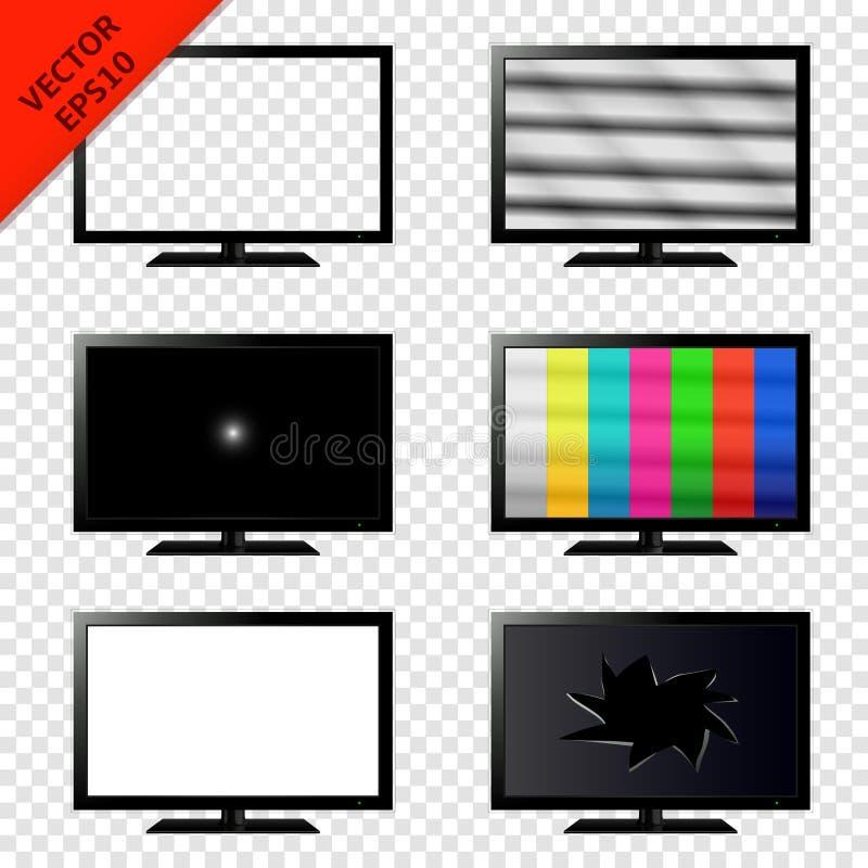Televisie op transparante achtergrond wordt geïsoleerd die royalty-vrije illustratie