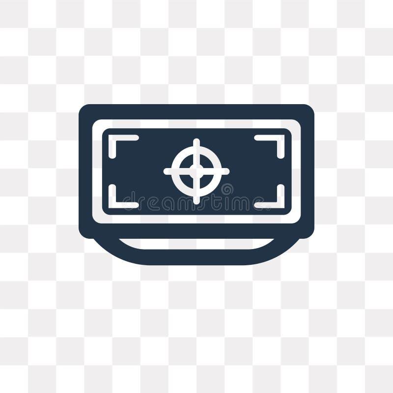 Televisie vectordiepictogram op transparante achtergrond, Telev wordt geïsoleerd vector illustratie