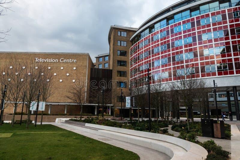 Televisiecentrum in Londen royalty-vrije stock afbeelding