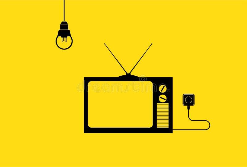 Televisieillustratie stock afbeelding