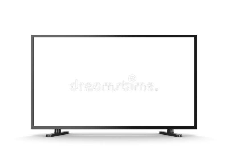Televisietoestel met het Lege Scherm stock illustratie
