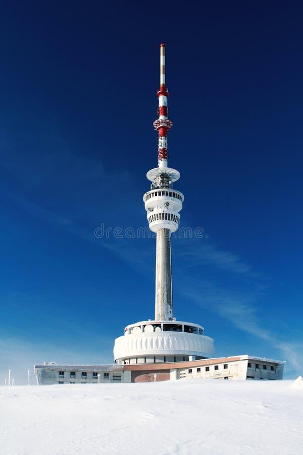 Download Televisiezender Op Praded-Berg Stock Afbeelding - Afbeelding bestaande uit vooruitzichten, tsjechisch: 39110203