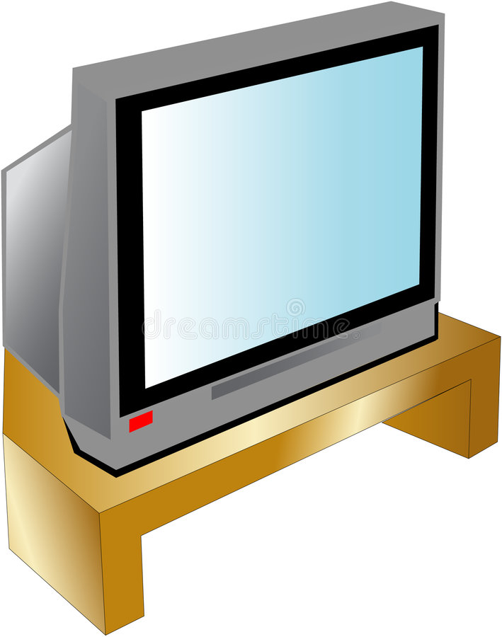 Television royalty free illustration