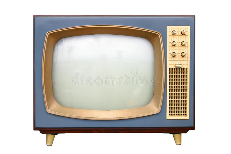 Television. B&w television apparatus from 1950 royalty free stock photos