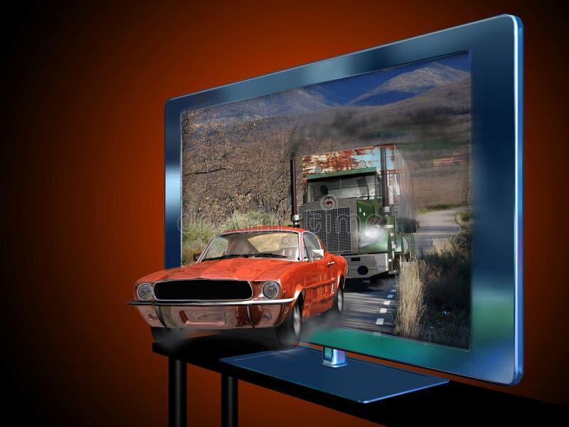 television 3d stock illustrationer