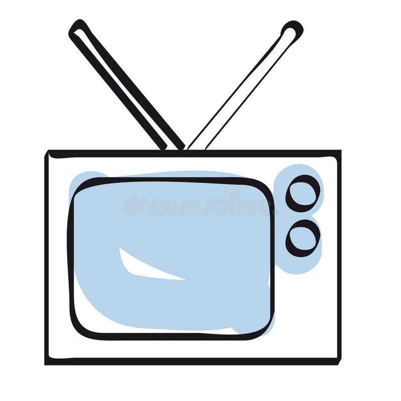 Television icon vector stock images