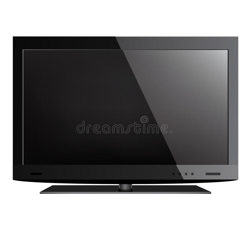 Television stock illustration