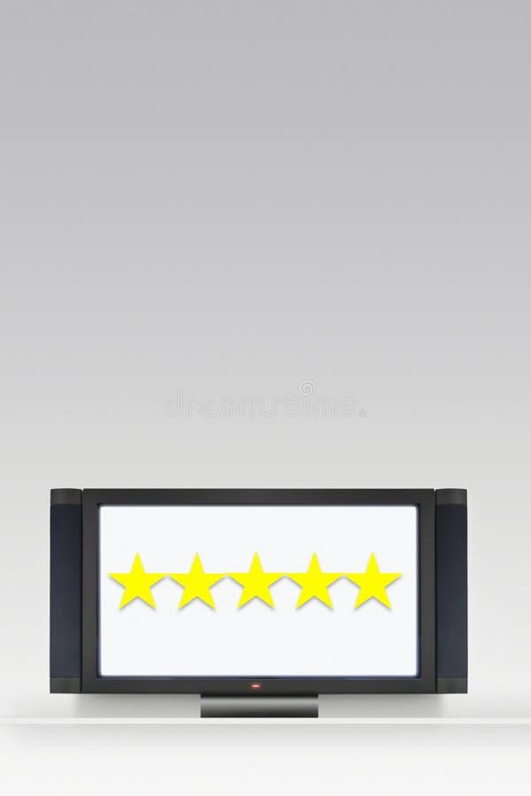television för 5 stjärna arkivfoto