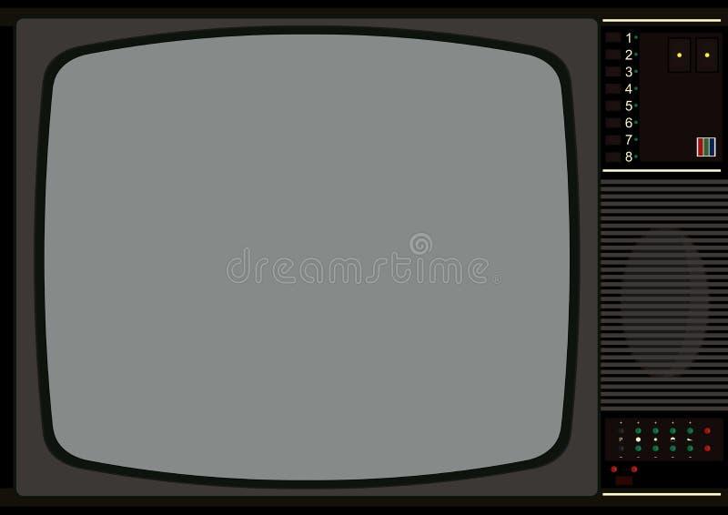 television frame stock vector illustration of antique. Black Bedroom Furniture Sets. Home Design Ideas