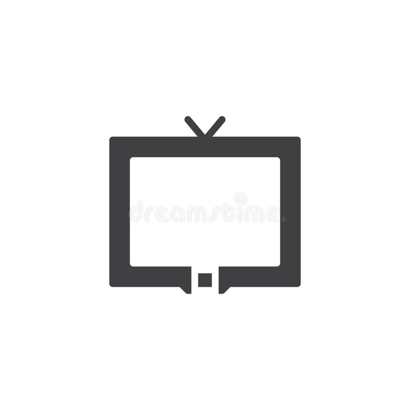 Television Icon Vector Stock Vector Illustration Of Home 102190336
