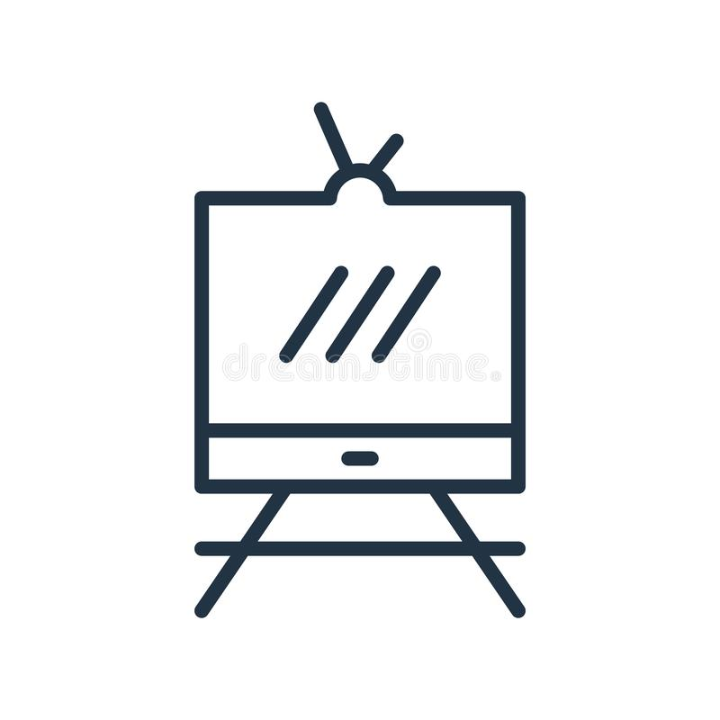 Television icon vector isolated on white background, Television sign , line symbol or linear element design in outline style vector illustration