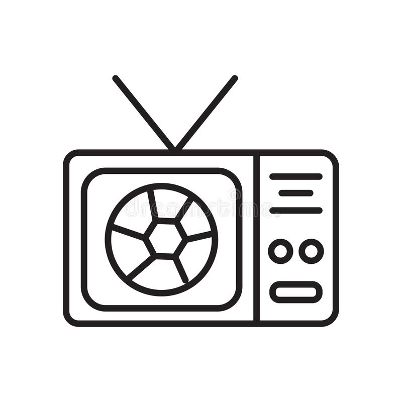 Television icon vector isolated on white background, Television sign , sign and symbols in thin linear outline style vector illustration