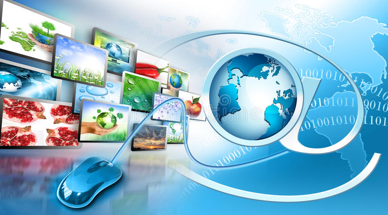 Television and internet production technology stock illustration