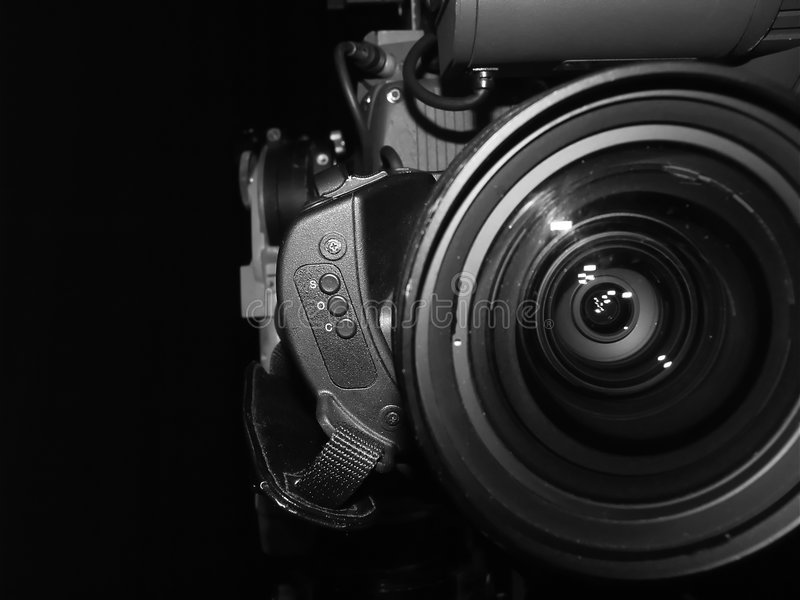 Television lens royalty free stock image