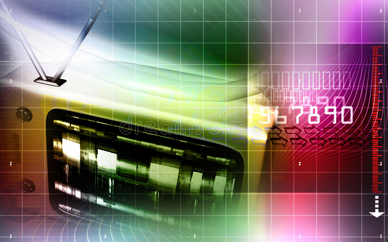 Download Television monitor stock illustration. Image of motion - 8040364
