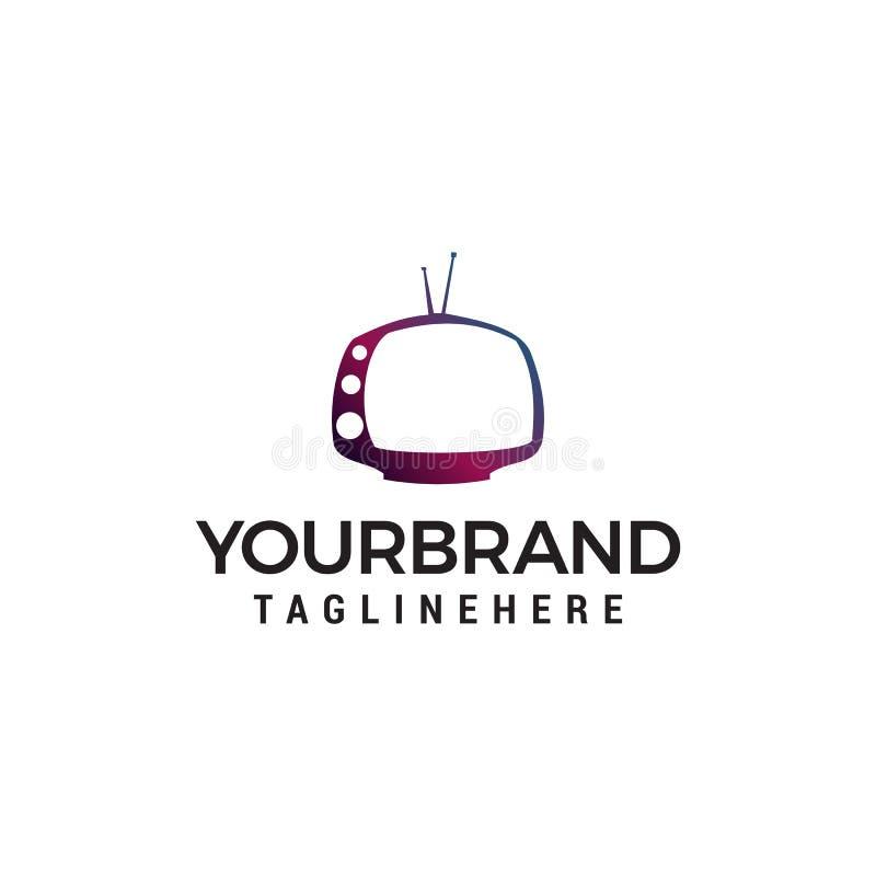 Television multimedia logo design concept. Template vector illustration