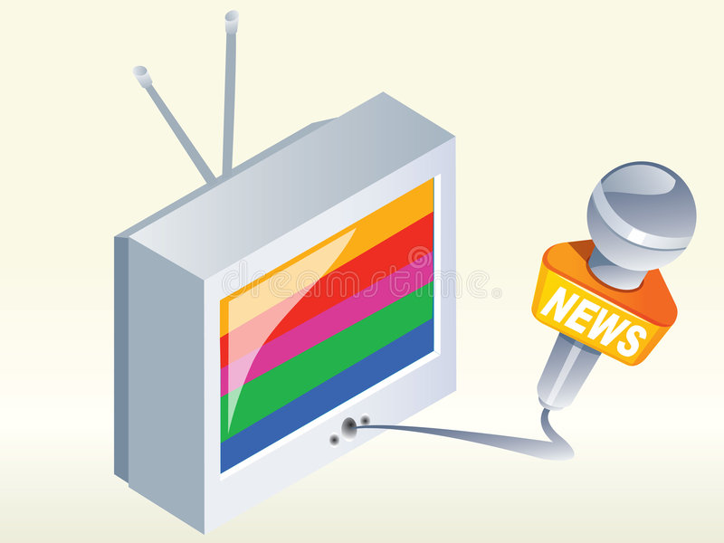 Television news vector illustration