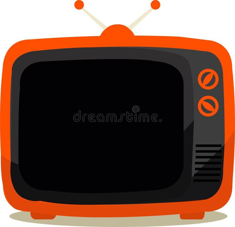 Television orange royalty free stock image