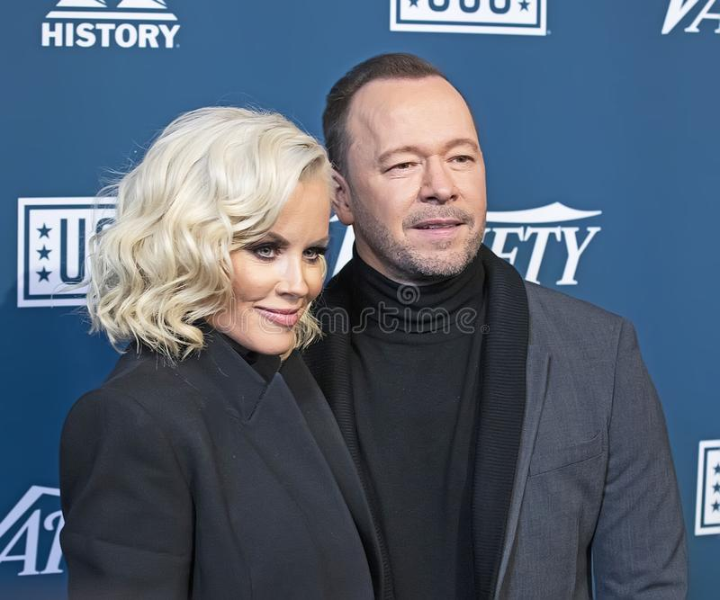 Jenny McCarthy & Donnie Wahlberg at Variety 3rd Annual Salute to Service Event stock photo