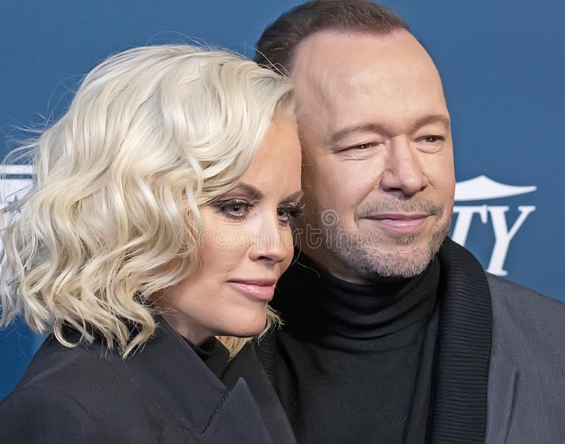 Jenny McCarthy & Donnie Wahlberg at Variety 3rd Annual Salute to Service Event stock images