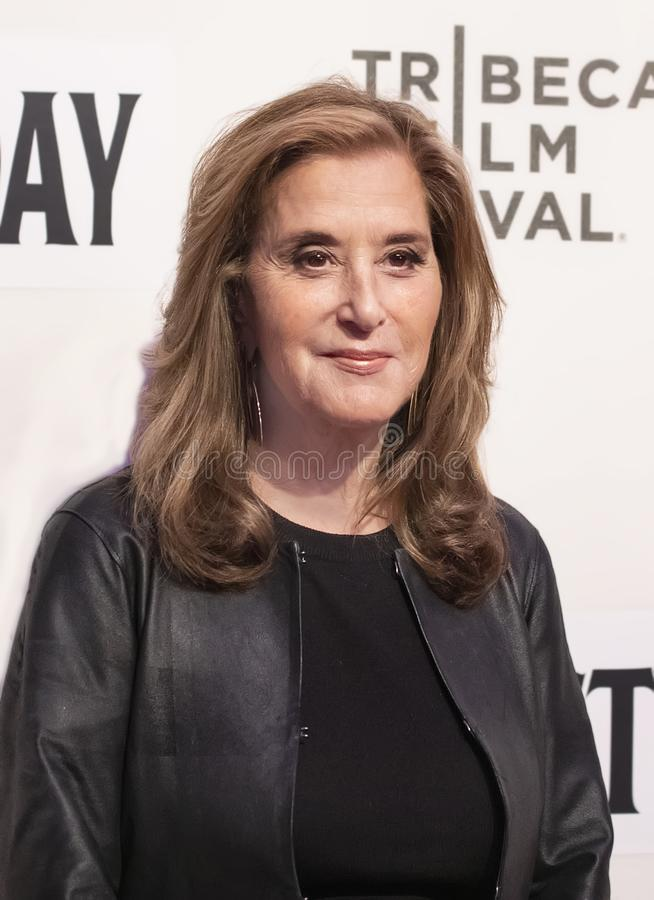 Paula Weinstein at World Premiere of `Yesterday,` Closing Night Gala at 2019 Tribeca Film Festival. Television producer Paula Weinstein arrives at the World stock photography