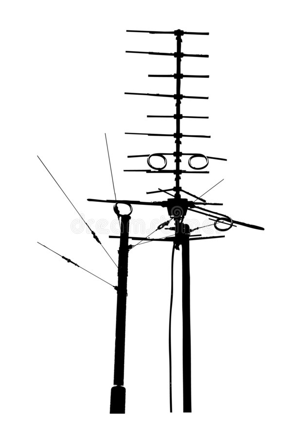 Download Television Rooftop Antennas Stock Image - Image: 6404471
