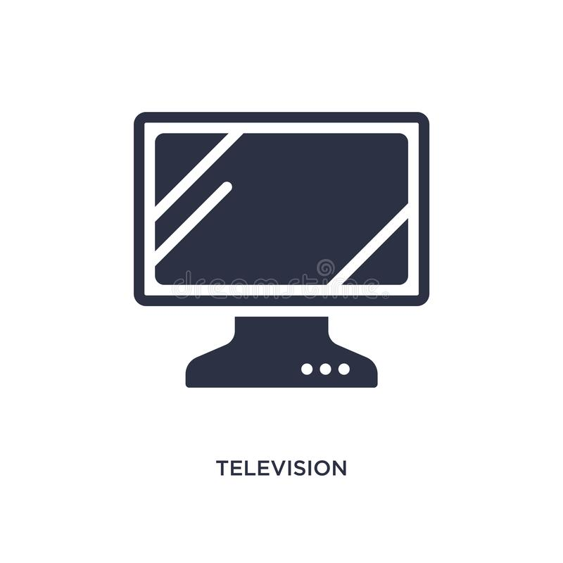 Television screen off icon on white background. Simple element illustration from music and media concept. Television screen off icon. Simple element illustration vector illustration