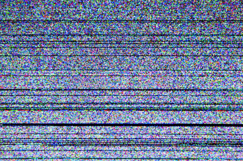 Television screen with static noise. Caused by bad signal reception royalty free stock image