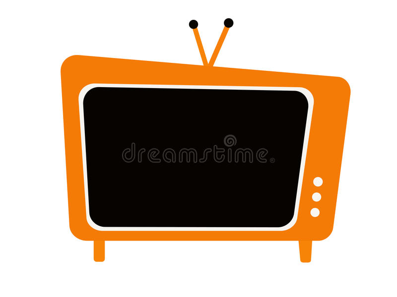 Television set stock illustration
