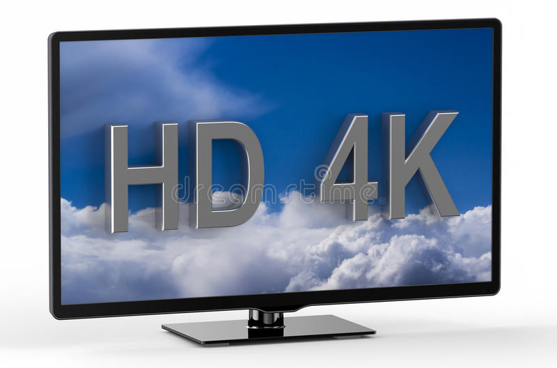 Television set with HD 4K stock illustration
