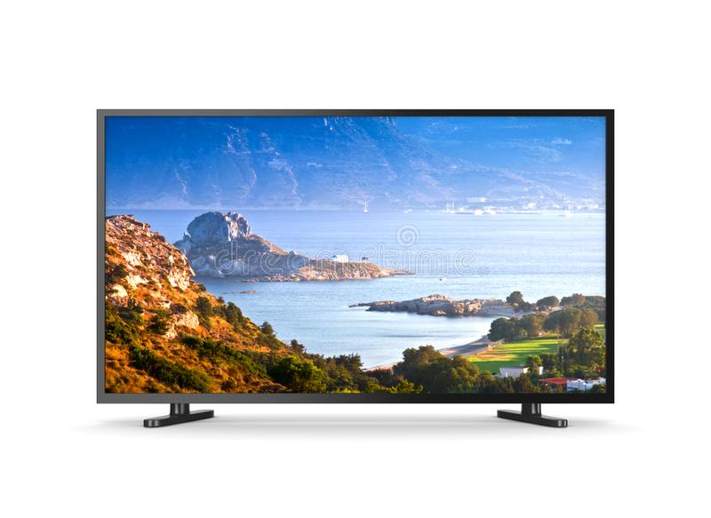 Television Set with Scenery Spot on the Screen royalty free illustration