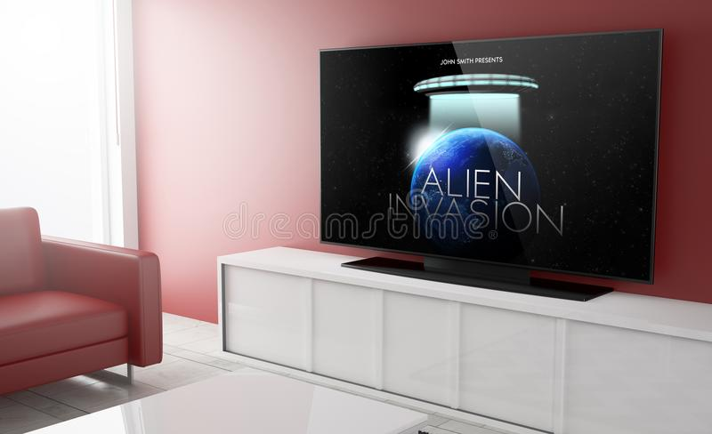 Television smart movie stock image