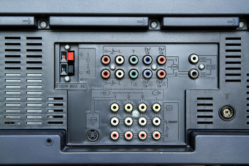 Download Television sockets stock image. Image of coaxial, background - 26388173