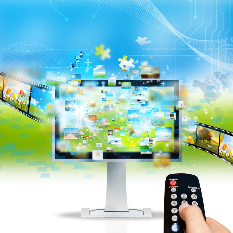 Television streaming. Modern television streaming image and movie