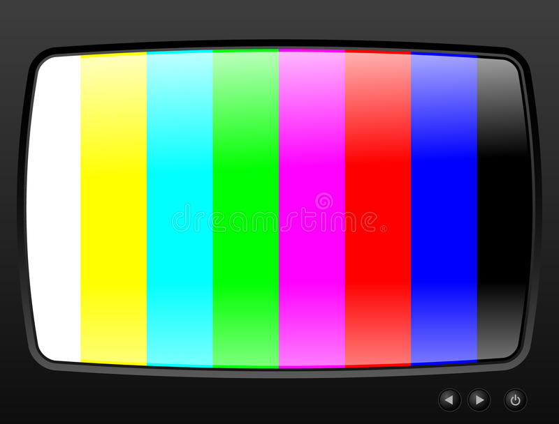 Download Television with test image stock illustration. Image of design - 25200340