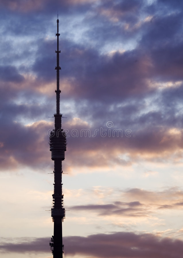 Download Television tower stock photo. Image of ostankino, graphics - 1412310