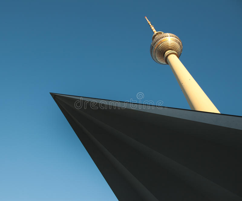 Download Television Tower In Berlin Mitte With Blue Sky Stock Photo - Image: 24184448