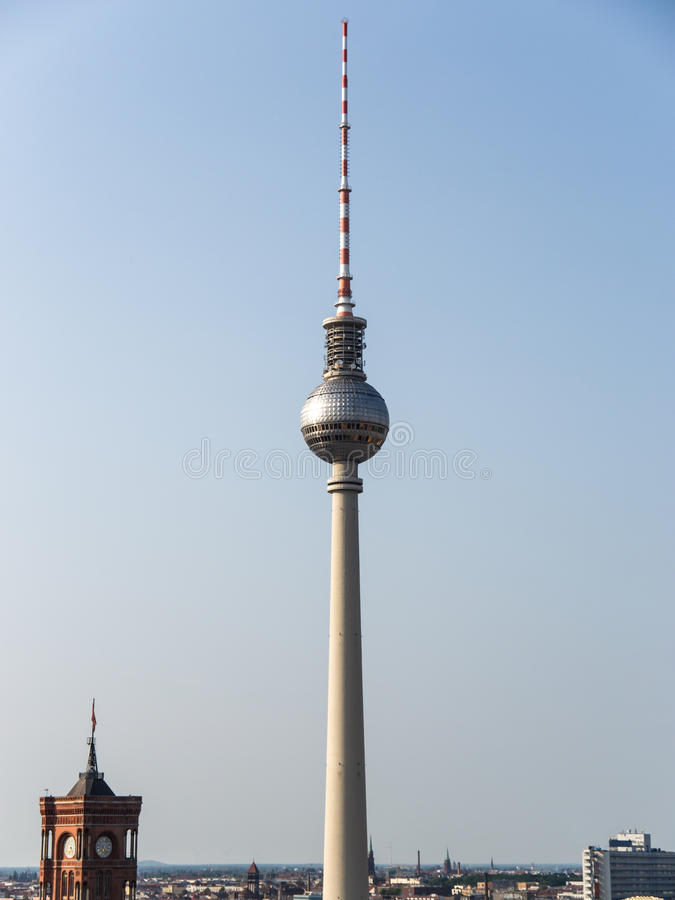 Download Television tower berlin stock photo. Image of center - 32421036