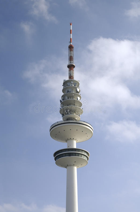 Television tower in Hamburg,. The Heinrich-Hertz-Turm is a radio telecommunication tower in Hamburg, Germany royalty free stock images
