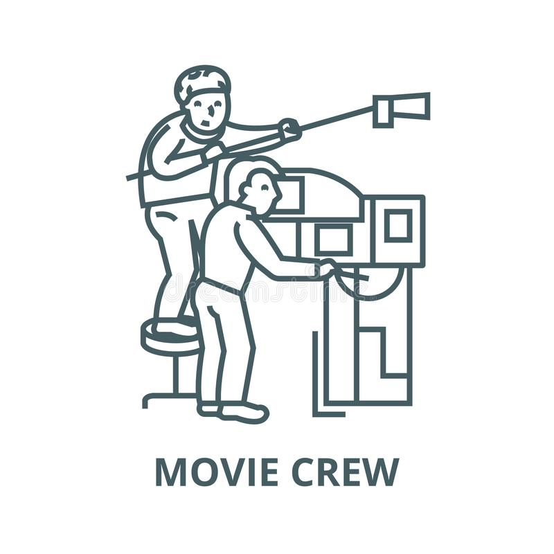 Television,tv broadcast,film crew,video vector line icon, linear concept, outline sign, symbol. Television,tv broadcast,film crew,video vector line icon, outline vector illustration