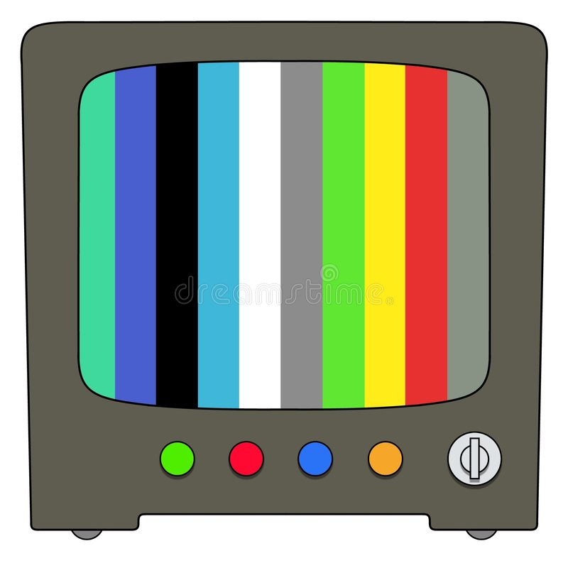 Televisione illustrazione di stock